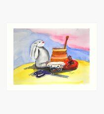 still life with Maurice Art Print
