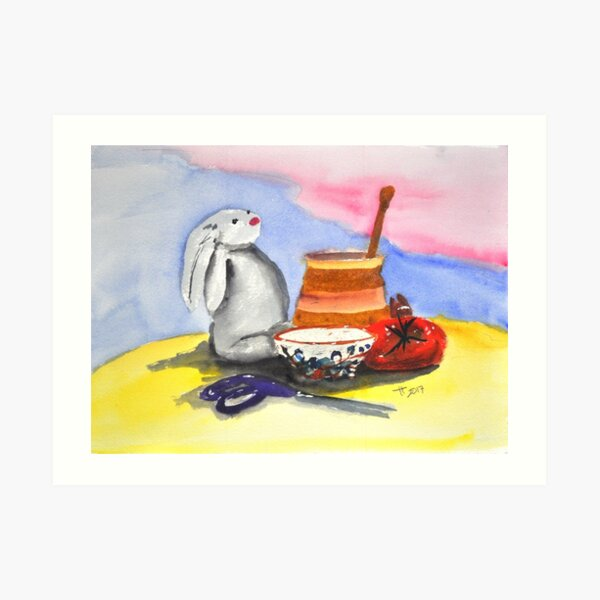 still life with Maurice Art Print