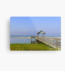 Dock on the Beach Metal Print