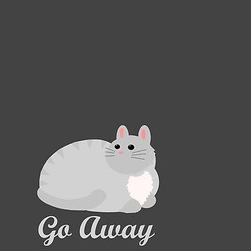 Antisocial Cat by LandOfMadDesign