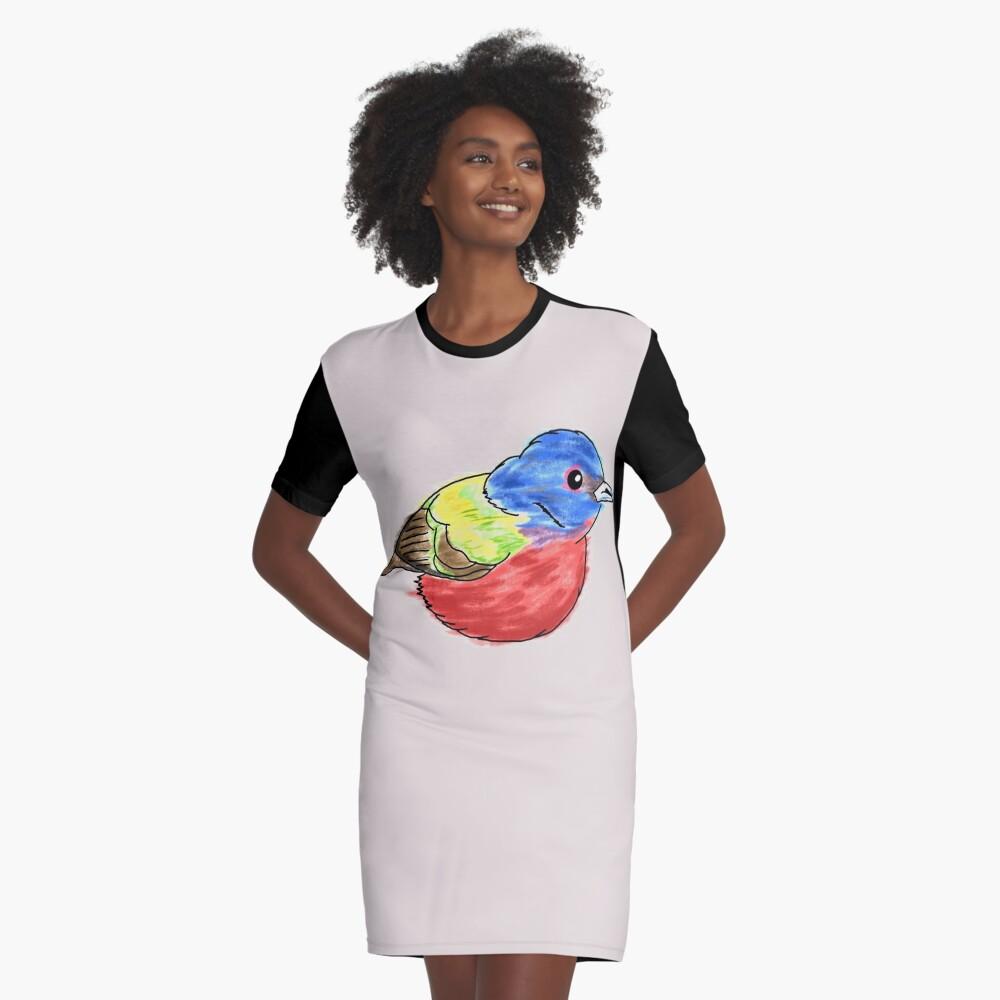 Bemalte Bunting T-Shirt Kleid