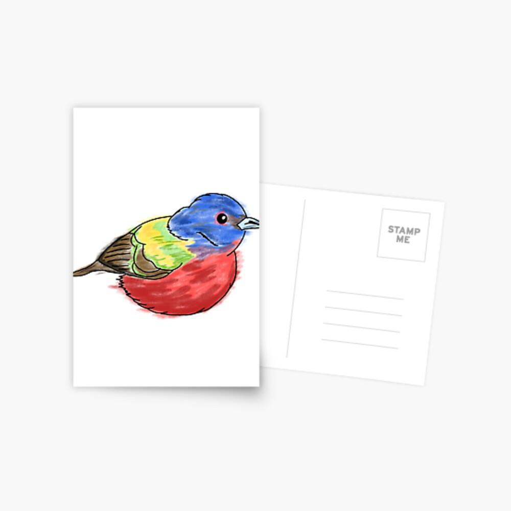 Bemalte Bunting Postkarte