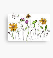 flowers graphic Canvas Print