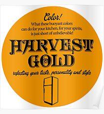 Harvest Gold Seventies Color Celebration Poster