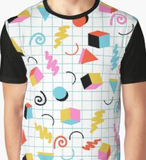 Clutch - retro minimal geometric memphis trendy pattern gifts 80s style 1980's vibes Graphic T-Shirt