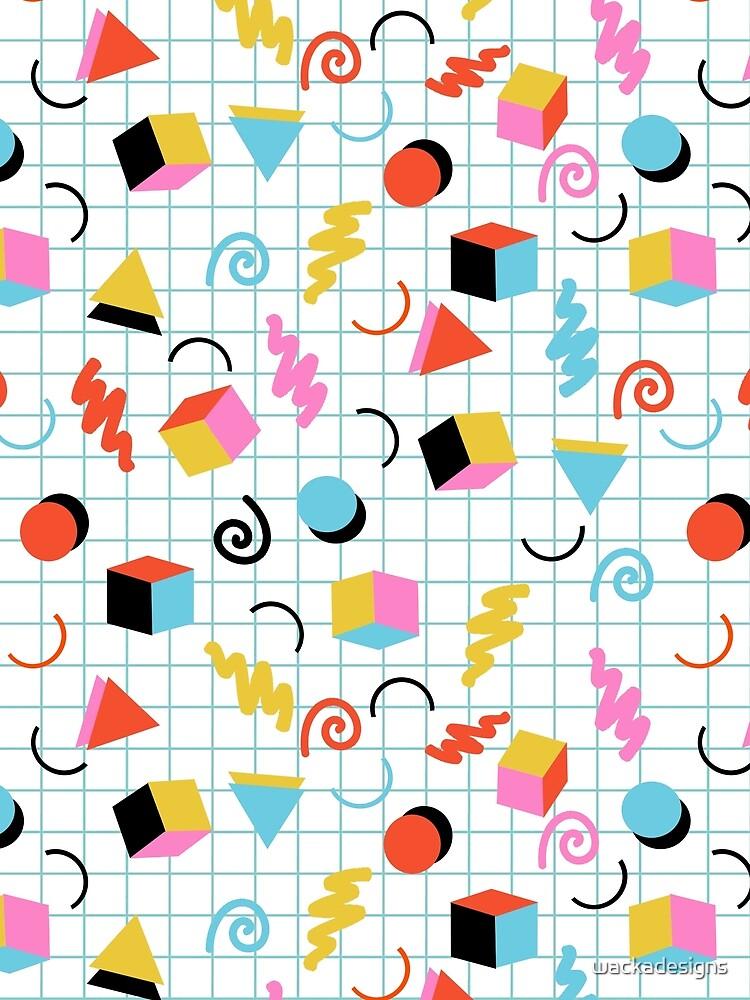 Clutch - retro minimal geometric memphis trendy pattern gifts 80s style 1980's vibes by wackadesigns