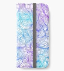 Blue and Purple Swirls iPhone Wallet