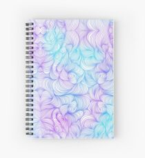 Blue and Purple Swirls Spiral Notebook