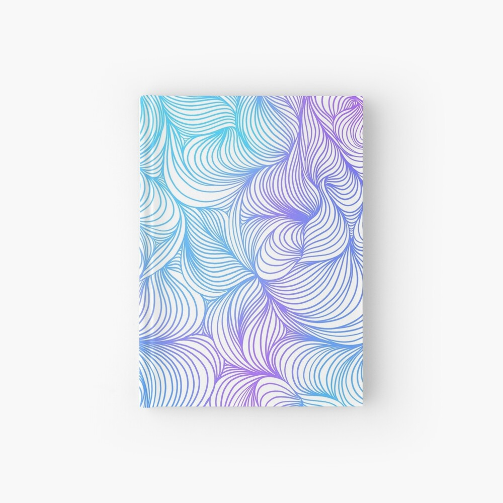 Blue and Purple Swirls Hardcover Journal