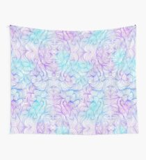 Blue and Purple Swirls Wall Tapestry