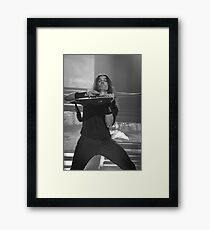 Megadeth's Kiko Loureiro in action Framed Print