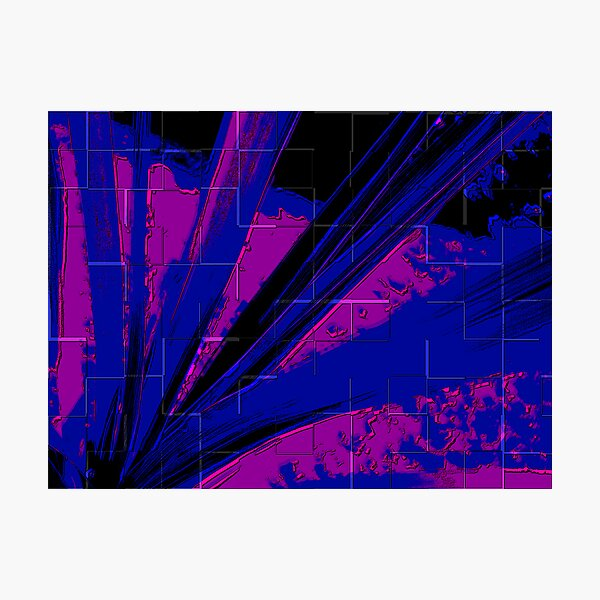 Blue Spray Photographic Print