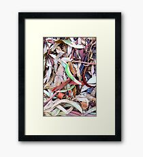 Leaves Disorganized Framed Print