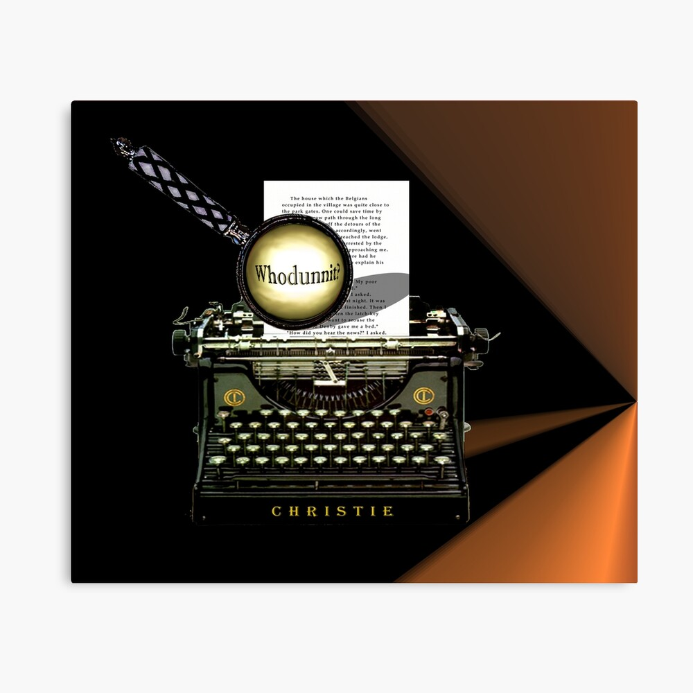 Agatha Christie kennt Whodunnit! Leinwanddruck