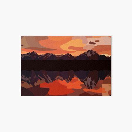 Mountains Art Board Print