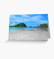 Secluded Tropical Beach and Island Greeting Card