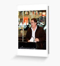 Stefan Nicholson - Poetry@Fed Square Greeting Card