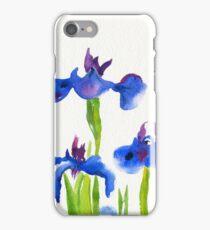 Watercolour Iris Flower Painting iPhone Case/Skin