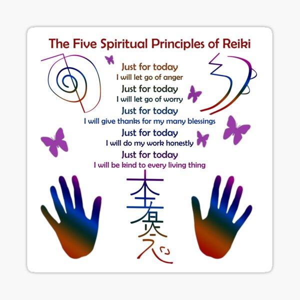 The 5 Principles of Reiki Sticker