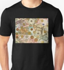 Banknotes and coins of different countries. T-Shirt