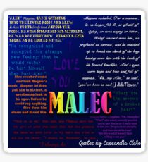 MALEC (The Mortal Instruments Cassandra Clare -- Magnus Bane and Alec Lightwood) Sticker