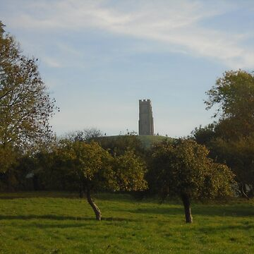 Glastonbury Tor and Apple orchard by MadeInStreet