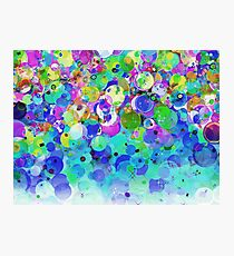 Multicolored bubble and blurry abstract pattern. Photographic Print