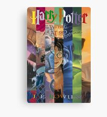 Harry Potter Cover Collage Canvas Print