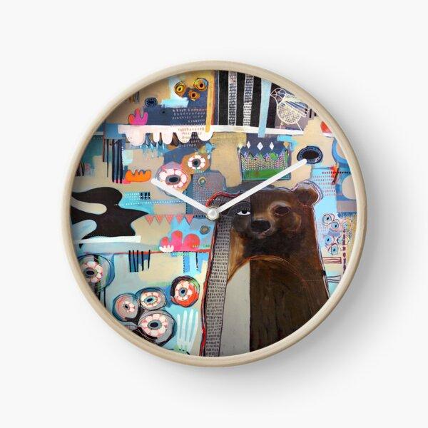 Bear in the Garden  Clock