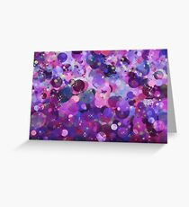 Purple holiday abstract pattern. Greeting Card
