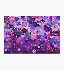 Purple holiday abstract pattern. Photographic Print