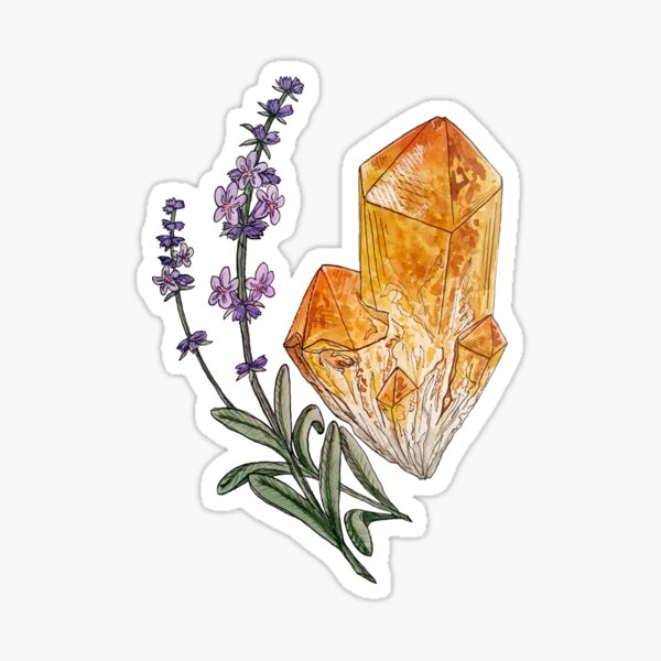 Lavender and Citrine Sticker