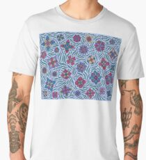 Summer Flowers Blue Men's Premium T-Shirt
