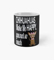 Chihuahuas Make Me Happy Black Mug Mug
