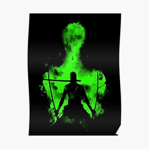 Roronoa Zoro Logo Poster