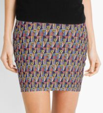 Hammer and Sickle Soviet Inspired Textile  Mini Skirt