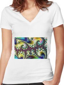 Psychedelic Dream. Women's Fitted V-Neck T-Shirt
