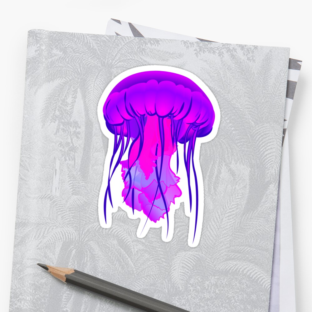 Jelly Fish Trip by Black Herb Stickers