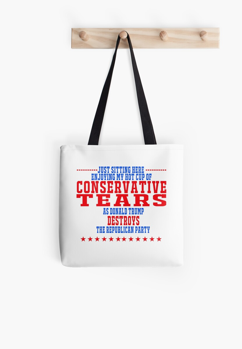 enjoying conservative tears tote bags by brickshirthouse redbubble