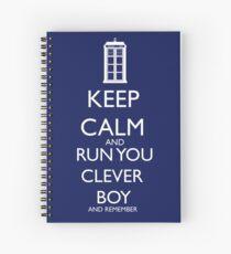run you clever boy Spiral Notebook
