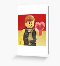Han Solo Valentines Greeting Card