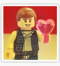 Han Solo Valentines Sticker