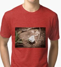 beautiful white butterfly Tri-blend T-Shirt