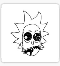 Spaced Out Rick Sticker