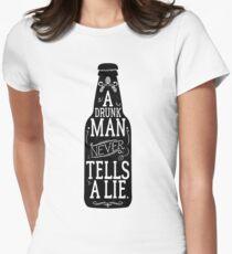 Drunks Lie Women's Fitted T-Shirt