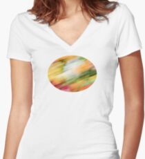 Colorful Strokes 2 Women's Fitted V-Neck T-Shirt