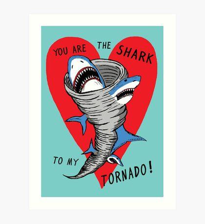 Tiburón a mi tornado Lámina artística