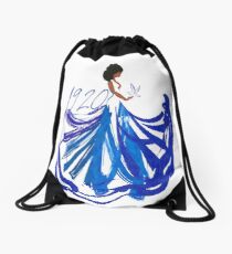 1920, The Blue and The White by HeavenNezCree Drawstring Bag
