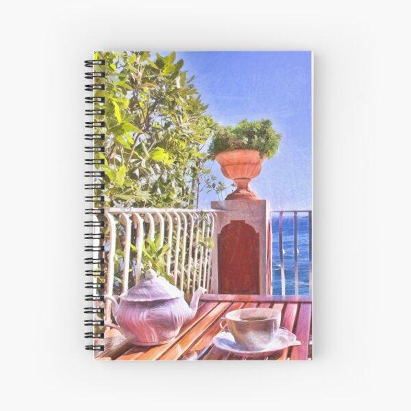 Teatime In Positano Italy Spiral Notebook