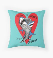 Shark To My Tornado Throw Pillow